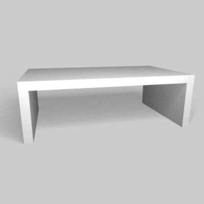 Contemporary White Coffee Table Free C4d Model Modern White Coffee Table