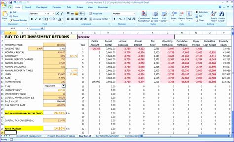 net worth calculator for excel