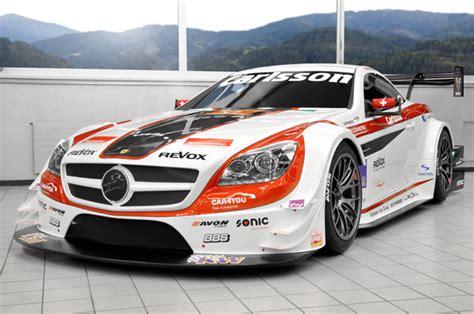 mercedes race car carlsson mercedes slk 340 race car revealed in geneva