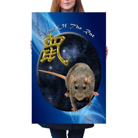 new year 2016 the rat zodiac year of the rat poster blue streak designs