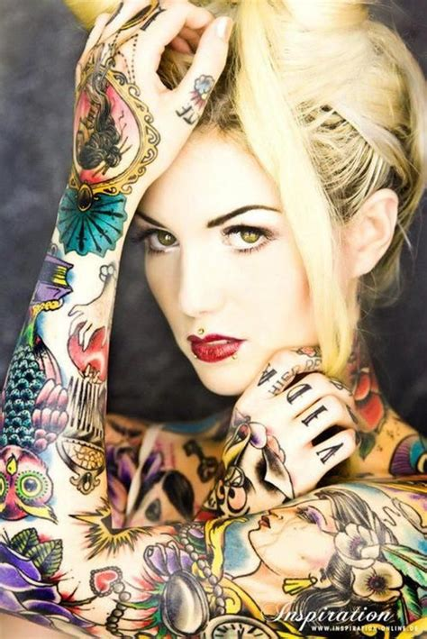 Tattoo Girl Color | flash tattoos full body color tattoo girl ink yourself