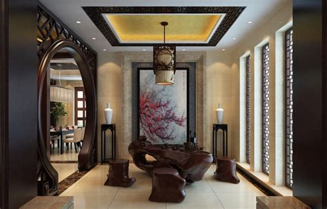Home Design Asian Style Style Tea Room Interior Design 3d House Free 3d