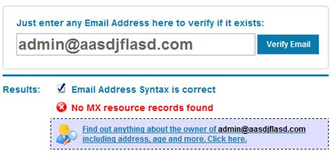 Mx Address Lookup How To Check If An Email Address Actually Exists