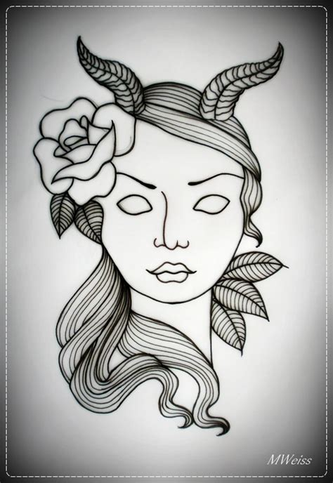 devil woman tattoo design images designs