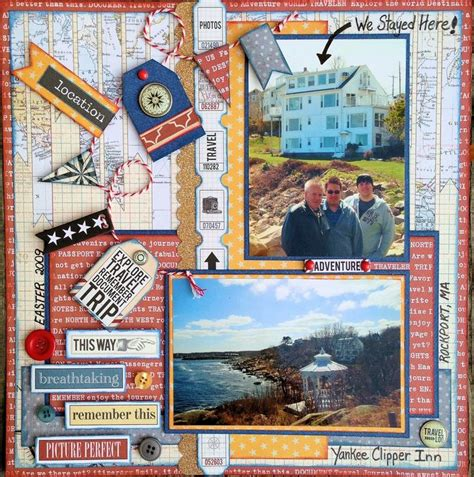 scrapbook layout travel easter get a way scrapbook com vacation travel