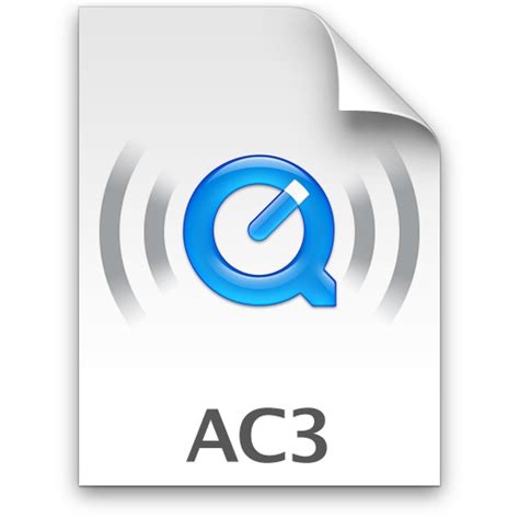 Ac3 Audio Format File   ac3 icon quicktime metal icons softicons com