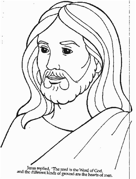 Color Page Of Jesus free printable jesus coloring pages for