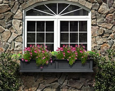 wall mounted window boxes mayne post fairfield window flower box 5ft in black