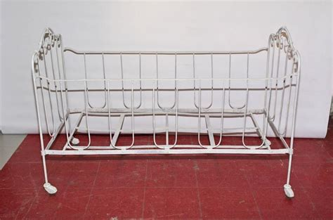 Metal Baby Crib For Sale Iron Baby Crib Or Doggie Bed For Sale At 1stdibs