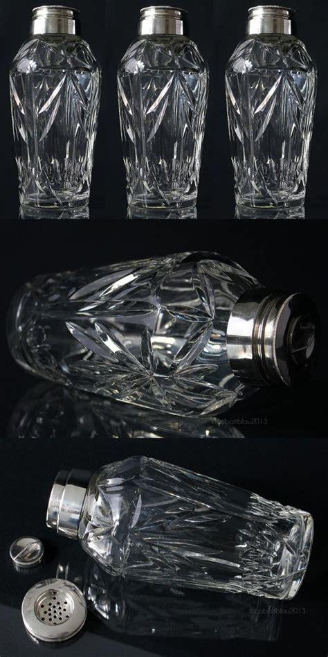 sterling silver barware vintage antique sterling silver cut crystal cocktail