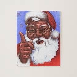 black santa claus black santa claus jigsaw puzzles zazzle