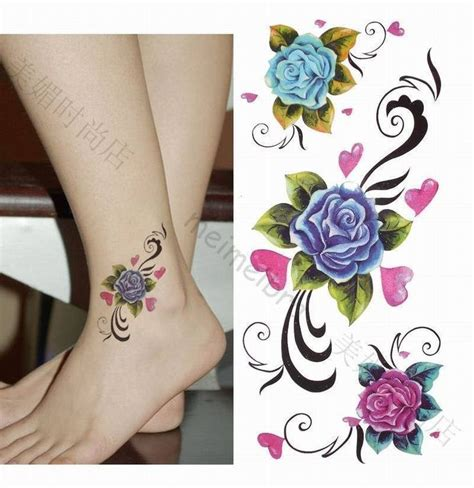 violet and rose tattoo 25 best ideas about ankle tattoos on