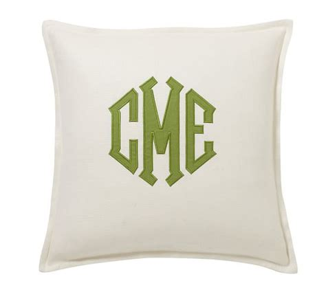 Monogram Pillows Pottery Barn by Monogram Applique Pillow Cover Pottery Barn
