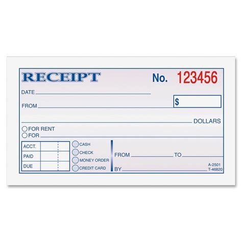 receipt book template money rent receipt bk 2 part 50 book ld products