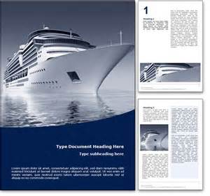 word page design templates royalty free cruise microsoft word template in blue