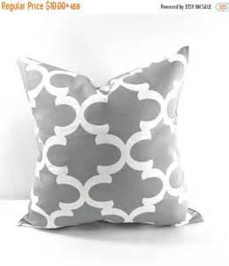 sale cool grey moroccan pillow cover grey by