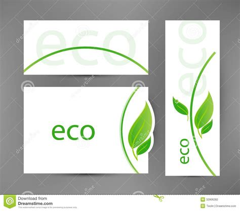 eco design elements vector eco banners templates stock photography image 32906282
