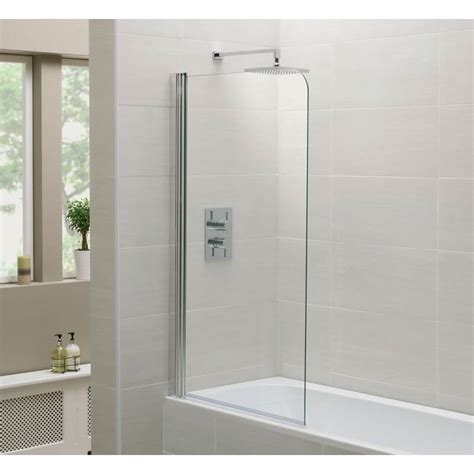 shower and bathtub moods single shower bath screen 800mm x 1400mm rap9234