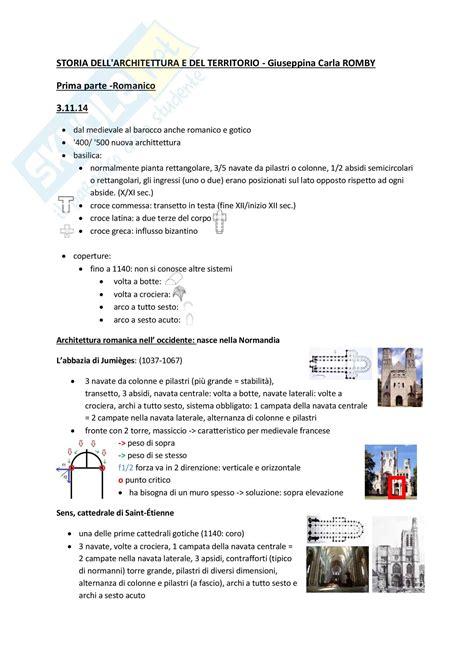 test di storia dell arte romanico appunti di storia dell architettura
