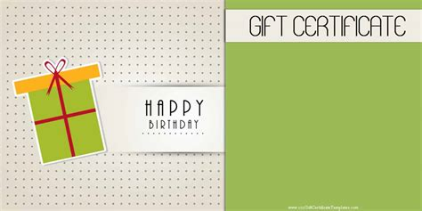 What You Want Gift Card Template by Birthday Gift Certificate Templates 101 Gift Certificate