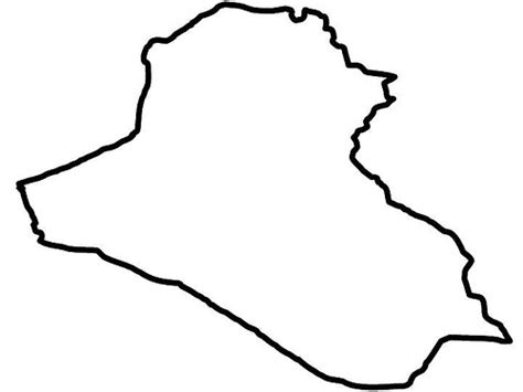 Iraq Outline Flickr Photo Sharing Map Of The World Colouring Page