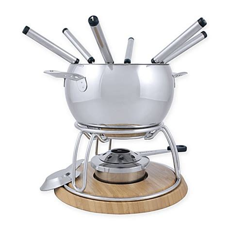 bed bath and beyond geneva buy swissmar 174 geneva 11 piece stainless steel fondue set
