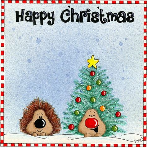 happy christmas hedgehogs  humor pranks ecards