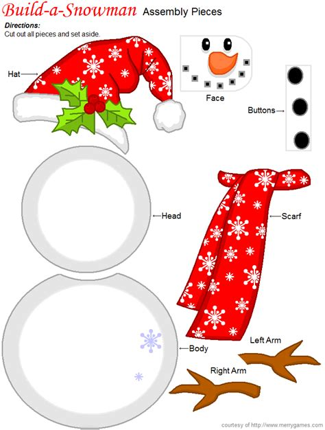 printable snowman ornaments free printable christmas build a snowman game great