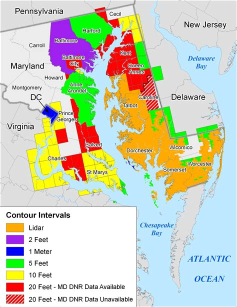 maryland map more sea level rise maps for maryland