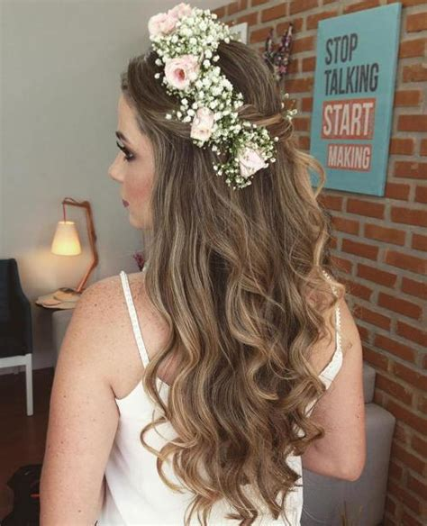 wedding hairstyles half up half down with flowers half up half down wedding hairstyles 50 stylish ideas