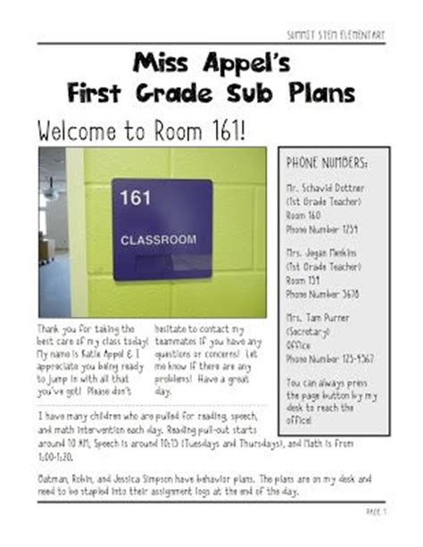 substitute lesson plan template top 27 ideas about substitute field trip stuff on