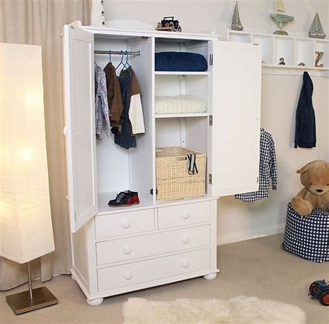 Childrens Wardrobes With Drawers by Nutkin Childrens White Painted Bedroom Furniture