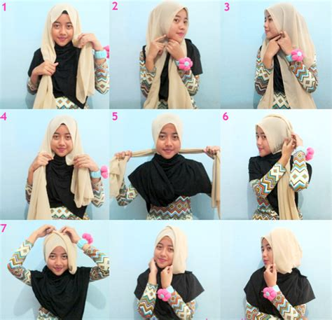tutorial segi empat double gambar tutorial segi empat terbaru 15 tutorial hijab