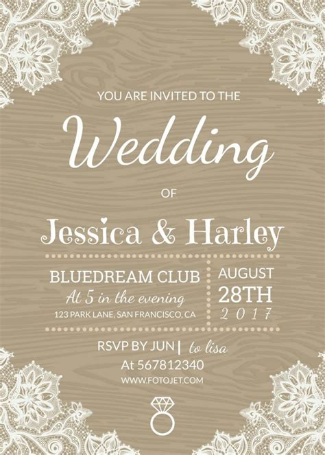 Wedding Invitations You Can Make Yourself by 3 Beautiful Free Wedding Invitation Templates That You Can