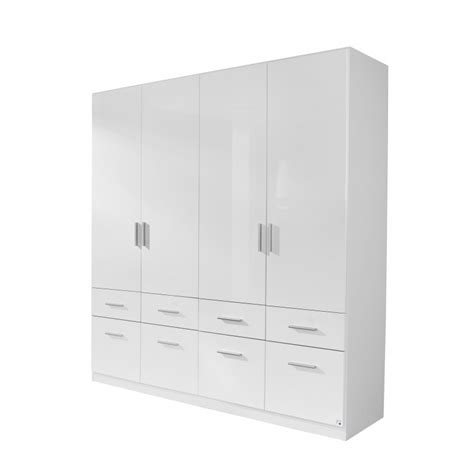 4 Door White Wardrobe by White Gloss Wardrobes On Sale With Drawers