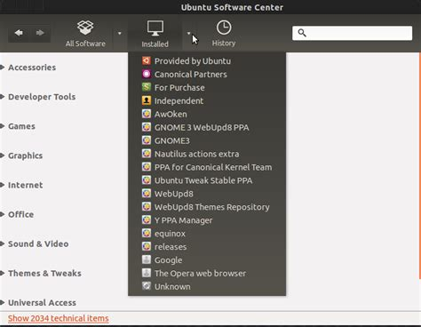 software center how to list user installed applications not packages ask ubuntu