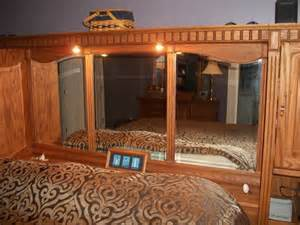 king size headboard and mirror