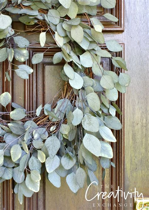 door wreath easy eucalyptus door wreath