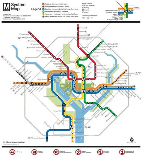 dc subway map washington dc metro system maplets