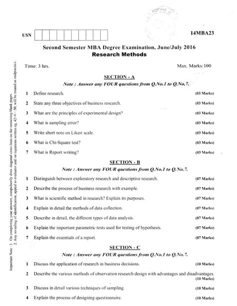 Cde Mba Question Papers by 2nd Semester Mba Jun 2016 Question Papers
