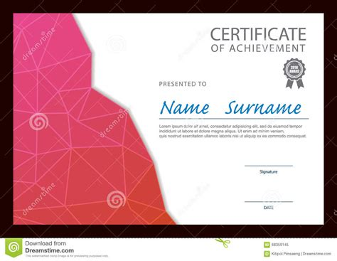 layout design certification modern certificate template stock vector image 68359145