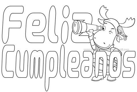 imagenes para colorear feliz cumpleaños feliz cumplea 241 os letras para colorear imagui