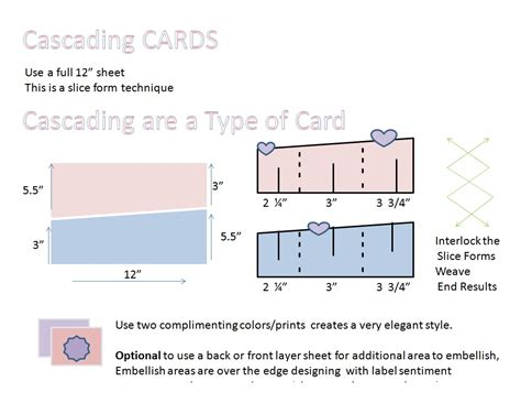cascade card template accordion cards sketches overboard created creations