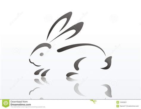 silueta del conejo imagen de archivo imagen 15992821