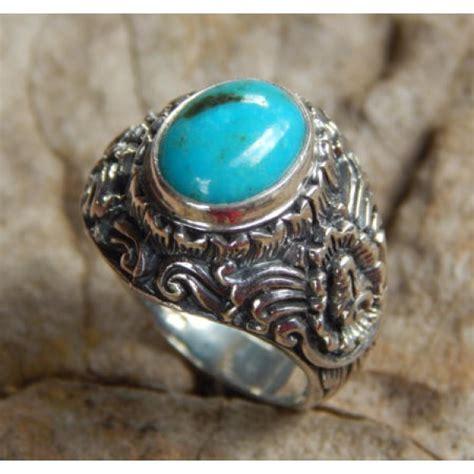 Tas Slempang Tengkorak cincin perak motif kembang bun batu torquise cincin