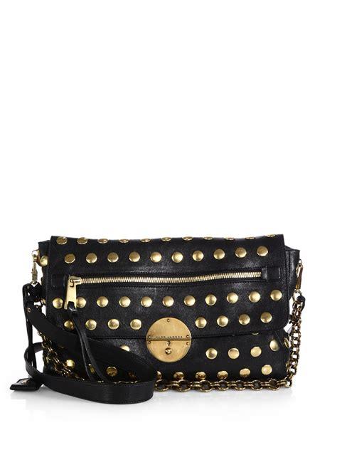 Marc Studded Leather Bag by Marc Gotham Studded Leather Shoulder Bag In Black