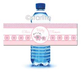 Baby Shower Bottle Labels Template by Elephant Baby Shower Printable Water Bottle Labels By Starwedd