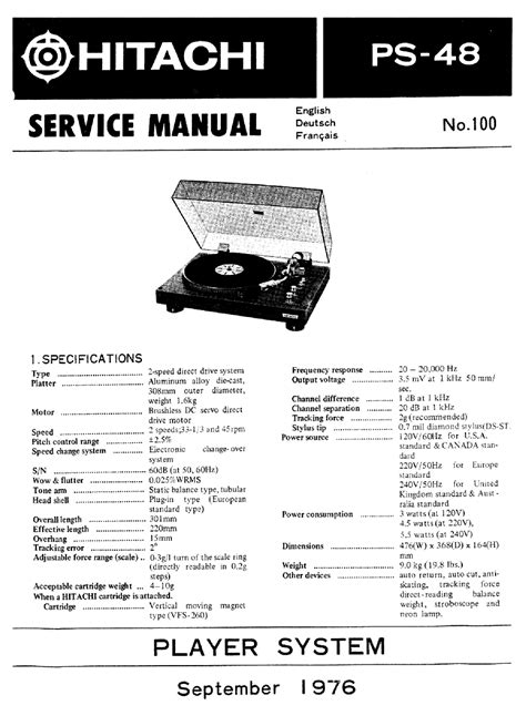 HITACHI PS-48 DIRECT DRIVE RECORD PLAYER LEMEZJATSZO 1976