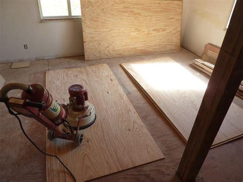 Sanding Plywood Floor low budget diy plywood plank floors diydork