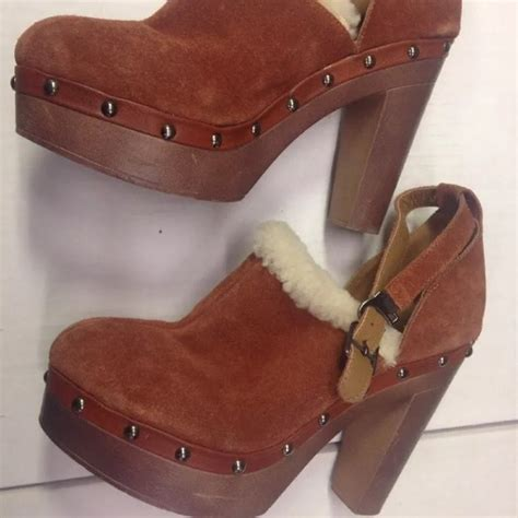 Zara Faux Fur High Heel Mules 83 shoes mule clog heel faux fur suede shoes from